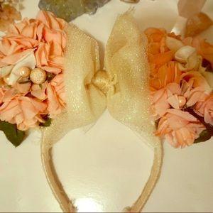 Floral Minnie Mouse ears headband